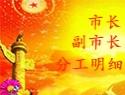 福清市市长、副市长分管工作明细(20200416