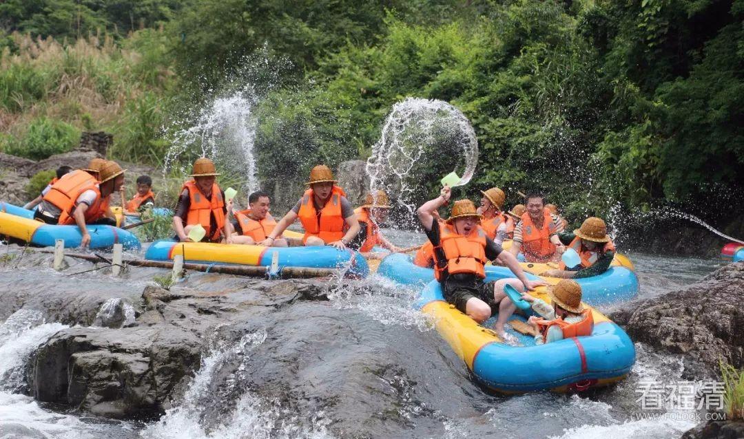 五月一日,福清一都后溪漂流正式开漂