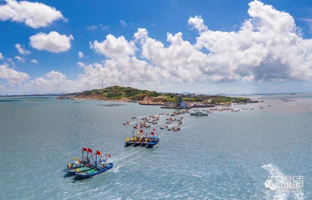 开渔啦!福清百艘渔船齐出海,场面太壮观!