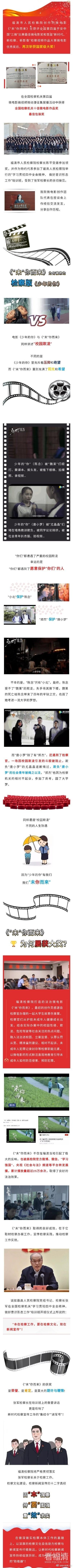 福清检察版《少年的你》获国家级大奖啦!