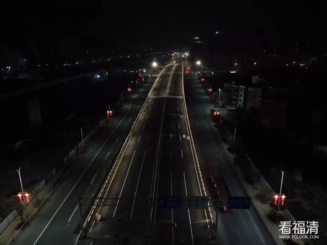福清又一处双向六车道路段通车啦!