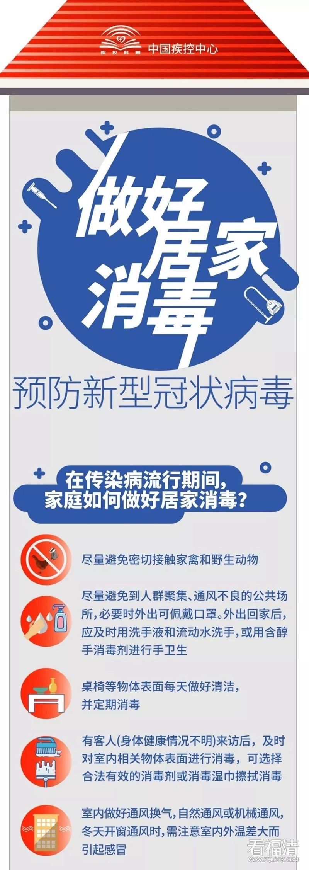 做好居家消毒 预防新型冠状病毒