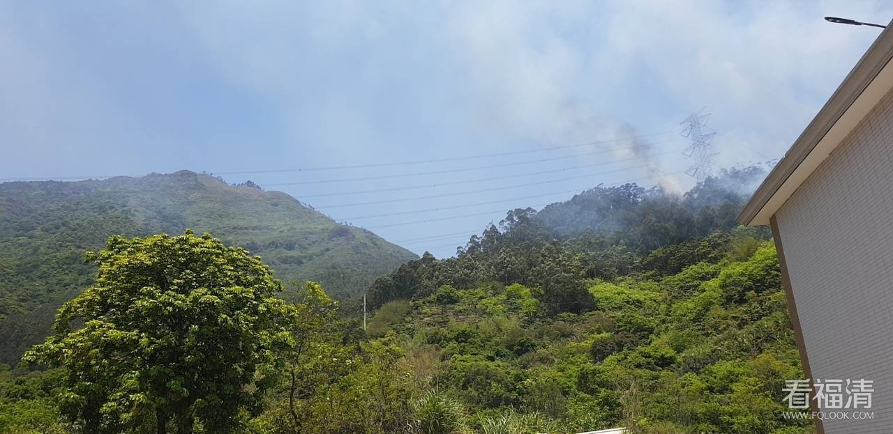 福清東張鎮是不是有山林起火?