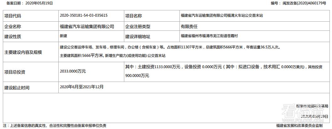 福清火车站将迎来重磅配套,占地面积11307平方米!