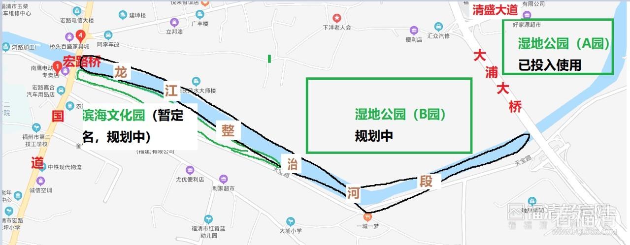 观音埔又一龙江公园动建,再规划两大型公园