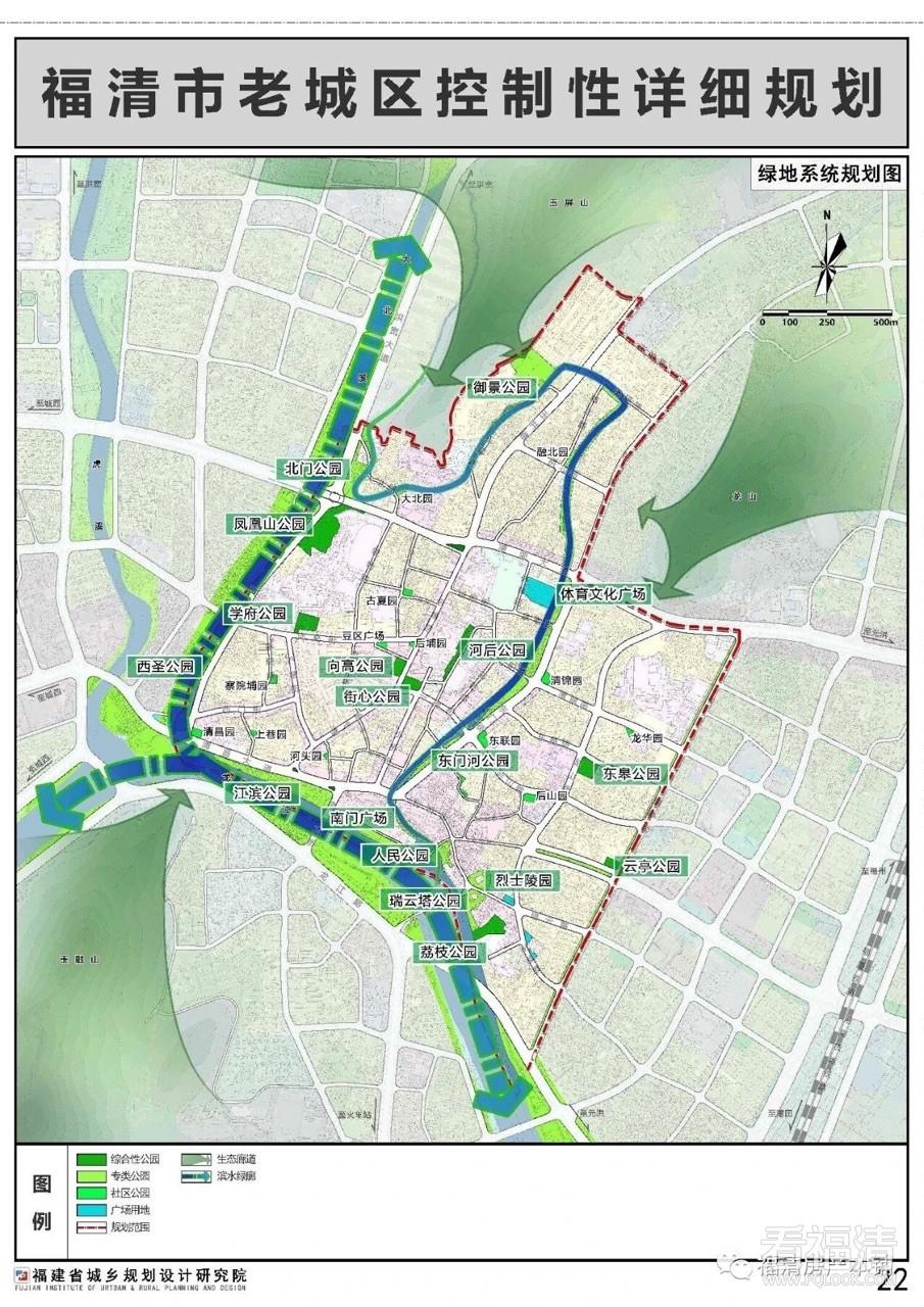 看了老城区规划,原来会有这么多公园