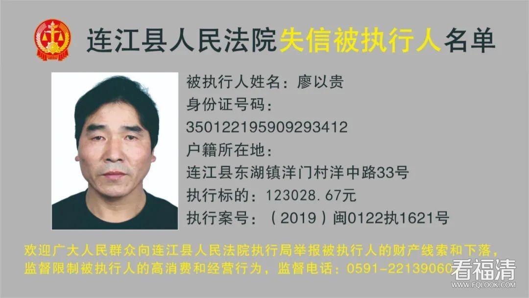 照片曝光!福州发布一批失信被执行人名单!
