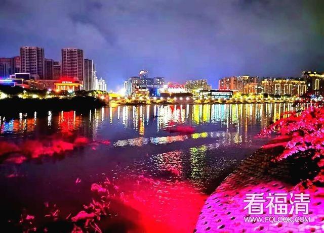 福清城区,灯光盛宴点亮夜文化
