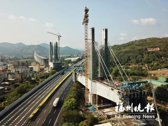 新建福廈鐵路 福清境內新增特大橋